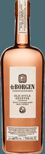 De Old Style Jenever van distilleerderij De Borgen glinstert goudkleurig in het glas en ontvouwt een complex bouquet met de geroosterde aroma's, anijs en specerijen. Deze jenever is zacht in de mond en is aanwezig met de intense tonen van graan, jeneverbessen, specerijen en zachte houttoetsen. In de afdronk is deze Holland gin elegant en intens. De Borgen's Old Style Genever is drievoudig gedistilleerd in een koperen distilleerketel en aangevuld met gerijpte mout-eau-de-vie. Het uiterlijk van de fles doet denken aan de koperen distilleerketel. Serveeradvies voor de jenever oude stijl van distilleerderij De Borgen Geniet van deze jenever puur bij een drinktemperatuur van 20°Celsius of in een martini.
