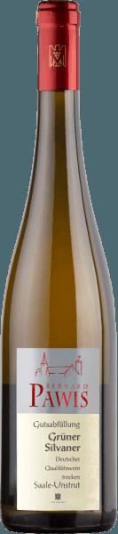 De Grüner Silvaner kwaliteitswijn droog uit Pawis geurt naar banaan, appel en peer. De fruitige aroma's blijven ook in de mond aanwezig, met wat geel fruit. Een directe en verfrissend lichte Grüner Silvaner, die een slanke body toont met een stevige structuur en wat extra zoetheid bevat.