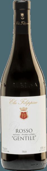 Elio Filippino's halfdrogeRosso Gentile is gemaakt van Merlot (70%) en Barbera (30%) druiven. In het glas schittert deze wijn in een donker kersenrood met violette accenten. Het bouquet onthult prachtige tonen van donkere bosbessen - vooral braambessen - en rijpe zwarte kersen. Het gehemelte heeft een zachte textuur die het wonderlijk evenwichtige samenspel van fijne zuren en aangename zoetheid perfect onderstreept. Aanbevolen voedsel voor de Elio Filippino Rosso Gentile Deze halfdroge rode wijn uit Italië is een ideale begeleider van allerlei pastagerechten in kruidige sauzen, van gezellige barbecue-avonden of van sterke kazen. Onderscheidingen voor de Gentile Rosso Filippino Mundus Vini: Goud voor 2015