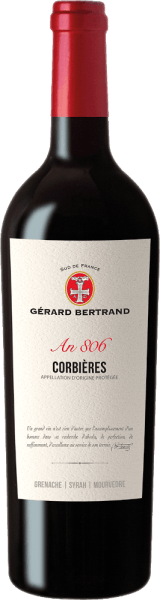 TheHeritage 806 Corbières from Gérard Bertrand appears in the glass in a concentrated ruby red and unfolds its intense bouquet with the aromas of blackberries, blackcurrant, garrigue and spices. This red wine is juicy on the palate and full bodied with lots of power. The enamel gives theHeritage 806 Corbières a unique elegance. With spicy fruit and full tannins this wine ends. Vinification of Gérard BertrandHeritage 806 Corbières This cuvée is made from Syrah, Grenache and Mourvèdre vines. The grapes are picked by hand and then processed separately. The Syrah grapes are macerated and fermented for a total of 10-18 days, Grenache and Mourvedre are traditionally fermented, meaning that they are completely de-stemmed and fermented on the mash. Until the end of malolactic fermentation, the wines remain in the tank. Then the wines are combined to form this cuvée and matured in barriques for 8 months. After light fining, theHeritage 806 Corbières is bottled and refined in the bottle for a few months. Food recommendation for Gérard Bertrand Corbières Enjoy this dry red wine with grilled or roasted meats of beef, lamb or venison, mushroom ragout or strong cheeses.