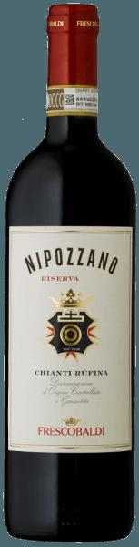 De Nipozzano Riserva Chianti Rufina DOCG van het wijnhuis Castello di Nipozzano van Frescobaldi heeft een heldere sterk paarse kleur. Het intense en complexe bouquet wordt gedomineerd door florale en fruitige aroma's zoals framboos, braambes, bosbes, gevolgd door geroosterde en kruidige tonen zoals nootmuskaat, koffie en thee. Warm, zacht en aangenaam kruidig in de mond met mooi geïntegreerde tannines, fris en elegant. Lange en aanhoudende afdronk.